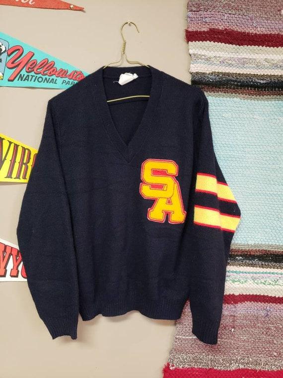 Vintage 1970s Varsity Sweater