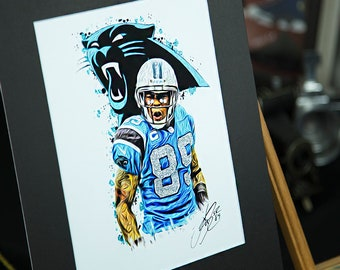 Unique Artwork - Steve Smith Sr #89 - Carolina Panthers - 3D Effect - Sports Art Print - Modern Art Poster