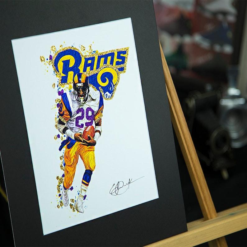 c37967c6 Unique Artwork - Eric Dickerson #29 - Los Angeles Rams - 3D Effect - Sports  Art Print - Modern Art Poster