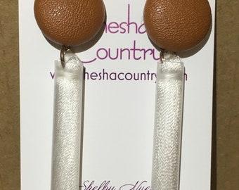 6.5 cm silk tassel earrings