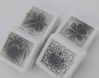 White exfoliating Coffee Soap