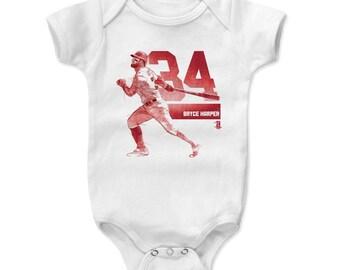 Bryce Harper Baby Clothes | Washington Baseball | Baby Romper | Bryce Harper Grunge R