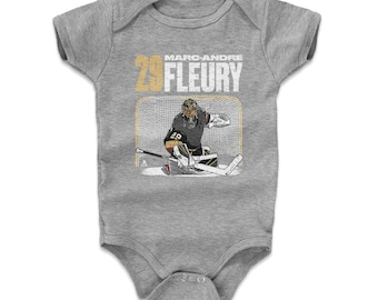 Marc-andre Fleury Baby Clothes | Vegas Hockey | Baby Romper | Marc-andre Fleury Goalie W Wht
