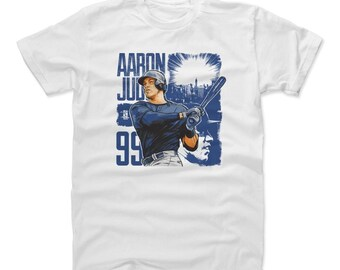 Aaron Judge Shirt | New York Y Baseball | Men's Cotton T Shirt | Aaron Judge Square B
