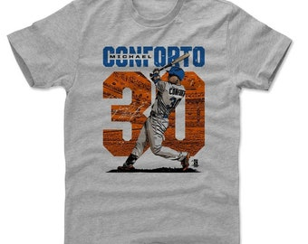Michael Conforto Shirt | New York M Baseball | Men's Cotton T Shirt | Michael Conforto Stadium O