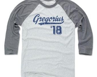 Didi Gregorius Shirt | New York Y Baseball | Men's Raglan Baseball T Shirt | Didi Gregorius Script B