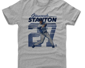 Giancarlo Stanton Shirt | New York Y Baseball | Men's Cotton T Shirt | Giancarlo Stanton Retro B