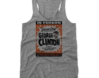 George Clinton Women's Shirt | Funk Music | Women's Tank Top | George Clinton Concert Poster