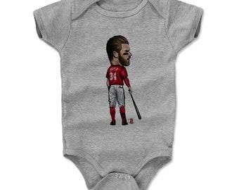 Bryce Harper Baby Clothes | Washington Baseball | Baby Romper | Bryce Harper Cartoon R