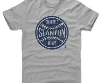 Giancarlo Stanton Shirt | New York Y Baseball | Men's Cotton T Shirt | Giancarlo Stanton Ball B