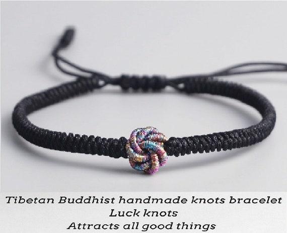 Lucky  knot blue Blue lucky knot adjustable length statement beads necklace Beaded blue necklace black Choker