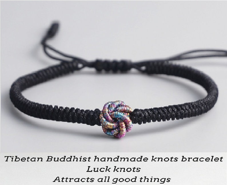 064216cb68904 Original Tibetan Buddhist Tibetan Lucky Knot Bracelet Handmade