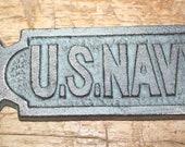 Cast Iron US NAVY Bottle openers, Sea Nautical opener SHIP Boat Heavy Military