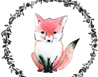 Fox with Little Prince Quote