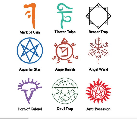 99 Supernatural Sigils And Symbols Ipad Cases Skins By Leagerard