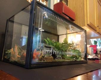 Terrestrial 10gal Aquarium Conversion Kit, reptile cage, reptile enclosure, vivarium, terrarium