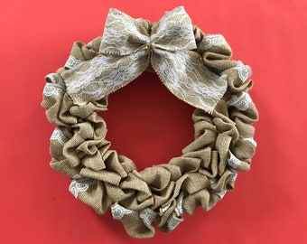 Lace Burlap Wreath