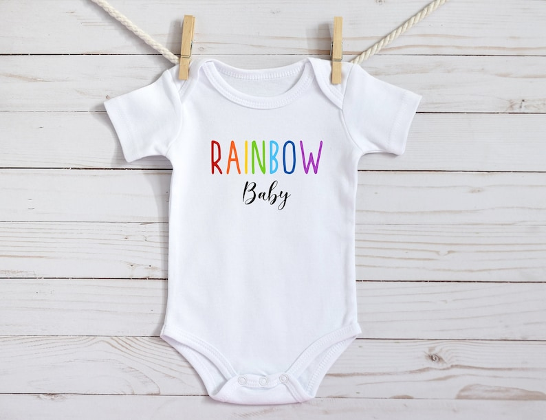 Rainbow Baby After The Storm Onesie Bodysuit Shirt Personalized Custom Name