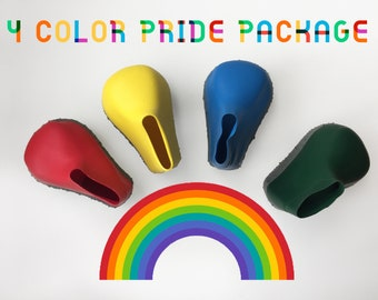 drizzledry boots PRIDE PACKAGE 4 boots enclosed / 1 of each color =  red, yellow, green & blue