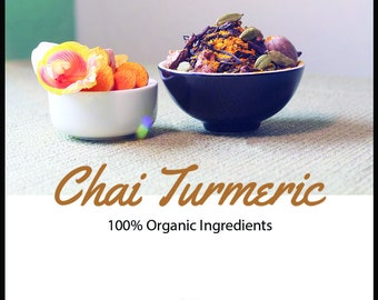 100% Organic Chai Turmeric Tea - Loose Leaf (Made in Hawaii)