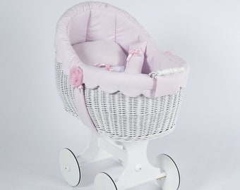 Moses White Wicker-Collection Sweet Pink