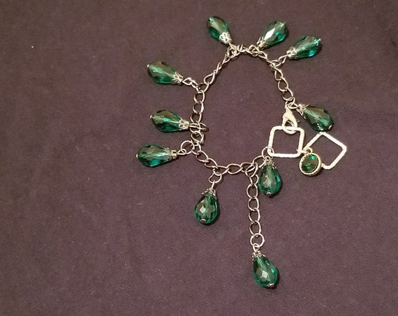 B30 Green Tear Dangles