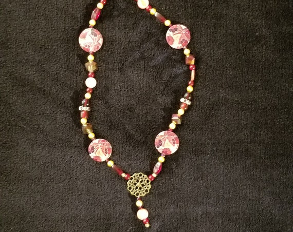 114 Raspberry Floral Shells
