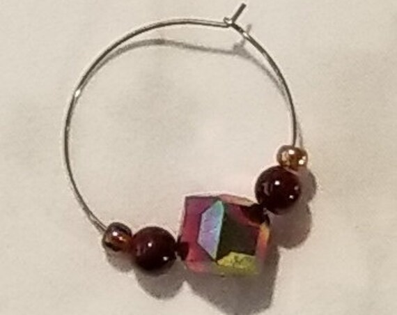 090E Raspberry Reds Earrings