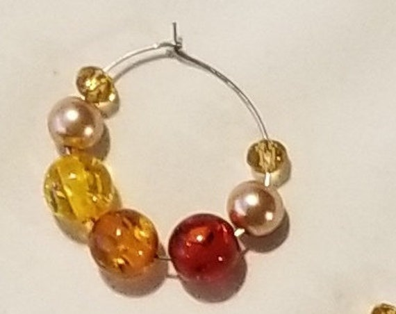 024E Simple Autumn Earrings Only