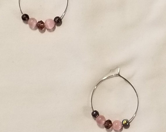 110E Mottled Muted Spring Earrings Only