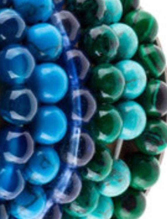 BM601 Bracelet Medley - Blues and Greens