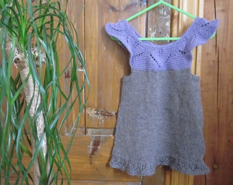 Hand knitted dress in Alpaca