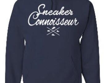 Sneaker Connoisseur navy hoodie