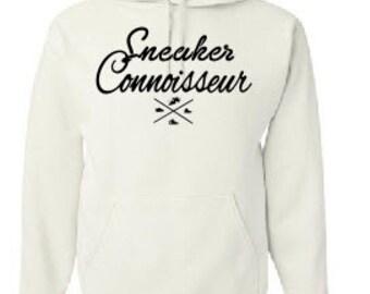 SNEAKER CONNOISSEUR white/black  HOODIE