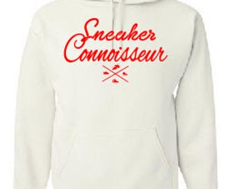 SNEAKER CONNOISSEUR white/red HOODIE
