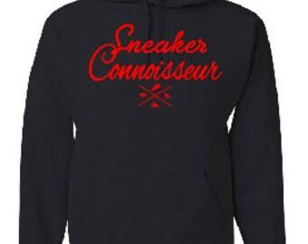 SNEAKER CONNOISSEUR red/ black HOODIE