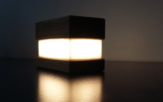 Lampe bois design lampe ambiance veilleuse lampe chêne