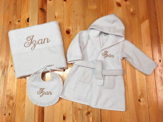 CRAFT and Personalised Name Embroidered onto Towels Bath Robes Hooded Towel
