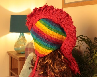 38b9ea73f2f 100% wool hat Handmade polyester lining Hippy Boho Hat Super Worm Men And  Women
