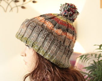 0c2006e5dc1 Mix Colour Warm 100% Nepalese Himalayan wool hat Handmade Wool Hat  polyester lining