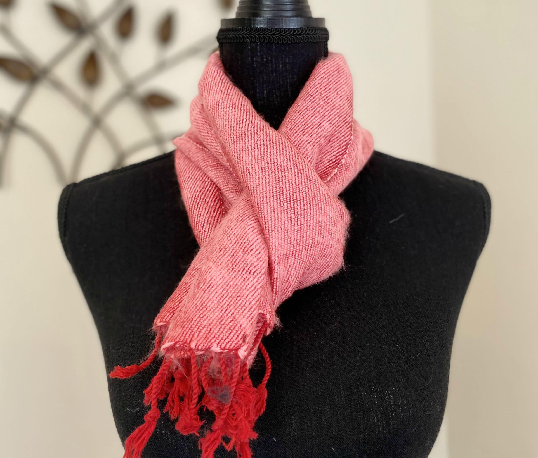 Plain Colour Himalayan Yak Wool Scarf Muffler Handmade In Nepal