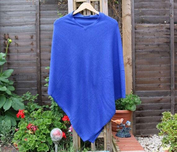 handmade poncho cardigan Blue Blue handmade cashmere poncho cardigan cashmere Blue HxwZU86qW