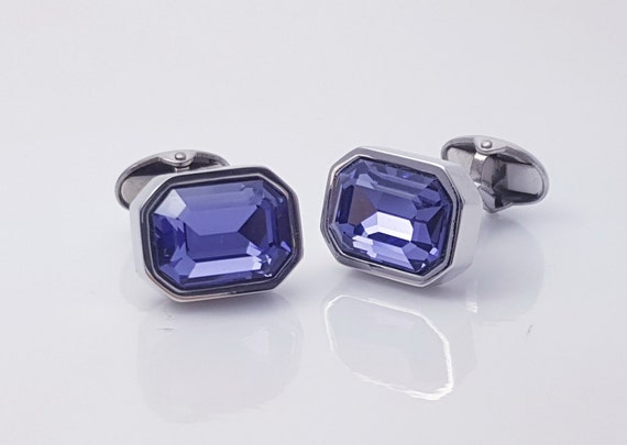 Blue Enamel Cufflinks Ian Flaherty Mens gift mens accessories Wedding present