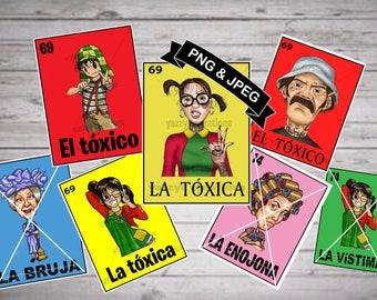 el chavo toxico/la chilindrina toxica/Don Ramon tatuado/Toxicos Bundle/LoteriaLavecindaddelchavoBundle/La chilindrinatatto/Laenojona/Labruja