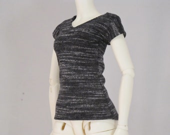 Minifee Grey and Black Sleeved shirt (Made to Order)