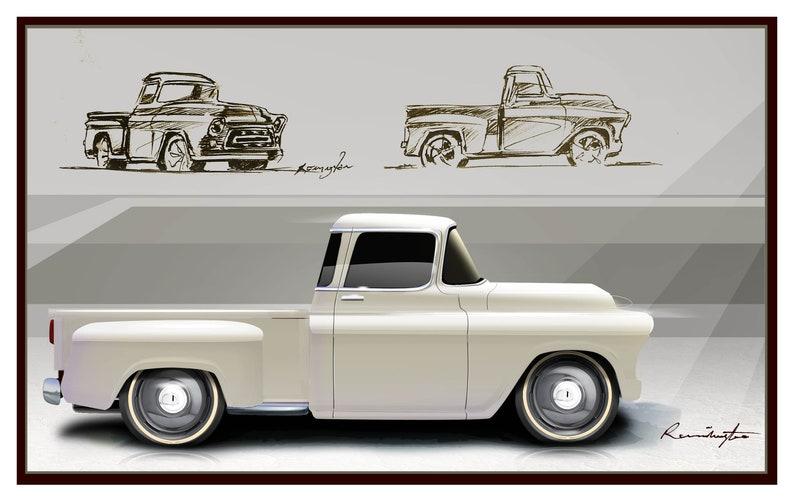Classic Trucks Cars 57 Chevy Chevrolet Pick Up Truck Etsy