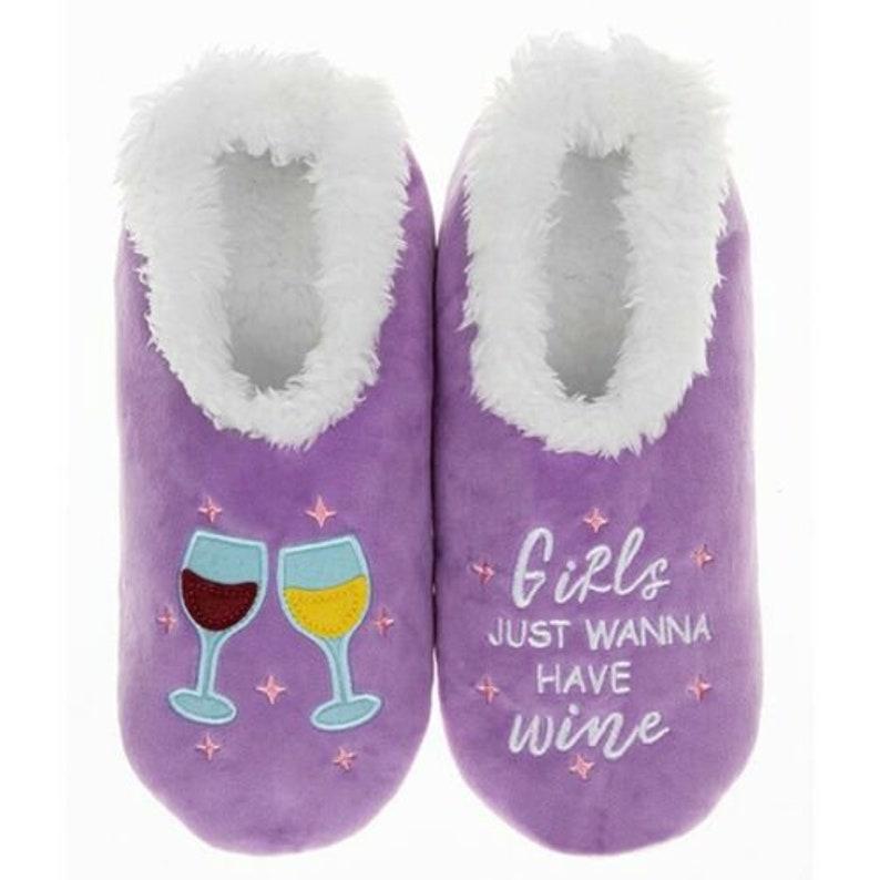 Snoozies Bling Sequin Cosy Slippers Fleece Ballerina Girls Adults Gift Non Slip