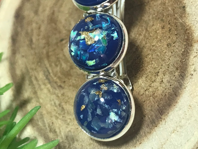 blue hair clip gifts for women women\u2019s hair clip barrette clip spring accessories Hair clip silver hair clip
