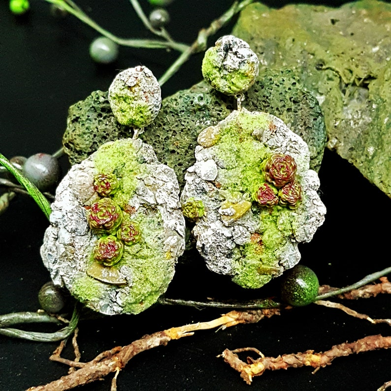 Rock Jewelry Lava Stone Beach Jewelry Set Lava Rock Jewelry Stone Necklace Stone earrings