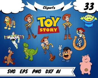 33 Toy Story clipart,toy story svg,toy story birthday, toy story print,woody svg,woody clipart,buzz svg,buzz clipart,buzz printable,rex svg